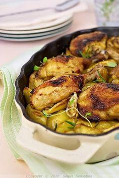 lemon honey and rosemary roasted chicken