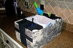 Car Organizer made from a diaper or paper box