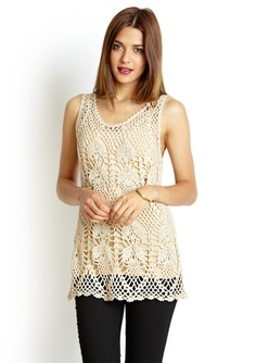 Nude Sleeveless Crochet Top