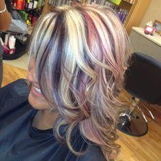 #hair #curls #pinkhair #purplehair