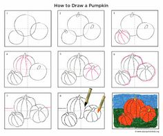 Art Projects for Kids: How to Draw a Pumpkin PDF