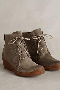 ankle wedge boots #a