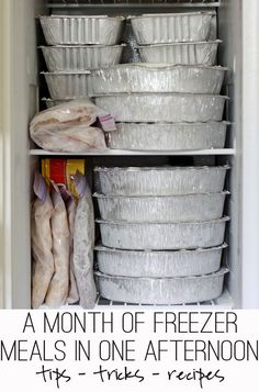 A month of freezer meals in one afternoon - without a deep freezer... and in a small kitchen. Lots of tips and recipes!