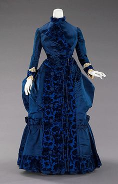 Dress, Afternoon  Augustine Martin & Company   Designer: Augustine Martin (French) Date: ca. 1885 Culture: French Medium: silk Dimensions: Length at CB (a): 27 1/2 in. (69.9 cm) Length at CB (b): 43 in. (109.2 cm) Credit Line: Brooklyn Museum Costume Collection at The Metropolitan Museum of Art, Gift of the Brooklyn Museum, 2009; Gift of Lillian E. Glenn Peirce, 1948 Accession Number: 2009.300.683a, b