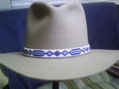 Native American Style beaded hat band~Ojibwa Ottertail Design hatband