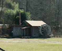 water mill, histor find, grist mill, water wheel, north carolina
