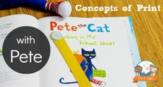 Learning Concepts of Print with Pete the Cat http://www.pre-kpages.com/learning-concepts-of-print-with-pete-the-cat/