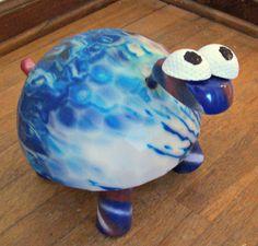 BOWLING BALL ART Turtle Handmade Golf Balls Clubs by WallworxxEtc, $4.00