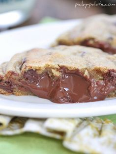 Giant Hershey Kiss Stuffed Chocolate Chip Cookies