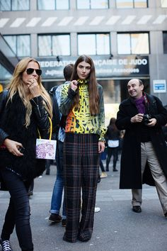fashion weeks, paris fashion, ursina gysi, star, street styles, mixed prints, graphics, mix ursina, mixing prints