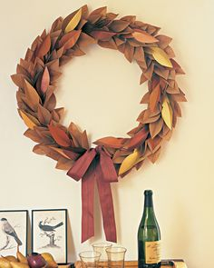 Fall Foliage Wreath #decor #NapaValleyHoliday