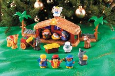 """Fisher Price Little People Nativity Set  Celebrate a special day, from long ago and far away. Press the angel on the stable and the star lights up to guide the wise men from afar and the tune """"Away in a Manger"""" plays. Two fence pieces connect to the stable and to the other Little People playsets. Children love retelling the Christmas story through play, and with a charming set of their very own, they might leave your holiday collectibles alone! Available at www.catholicsupply.com"""