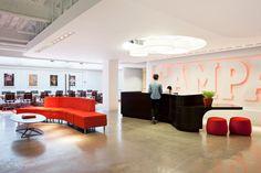 Inside Campari Americas New Headquarters  #reception #reception_desk,  #reception_design, #reception_area reception desks,  reception design, reception area