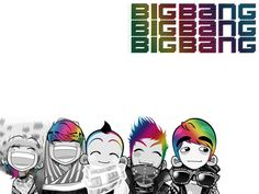 Aju-Kpop: Big Bang Chibis K-Wallpaper