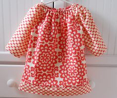 Amy Butler Lotus Flower Peasant Dress with 3/4 by babygraybee, $32.00