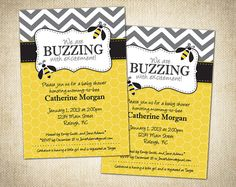 Bumble Bee Themed Baby Shower or Birthday by FlemingFullerDesigns