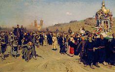 Крестный ход в Курской губернии (Ilya Repin)