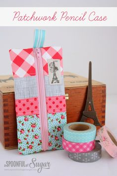 Patchwork Pencil Case - A Spoonful of Sugar