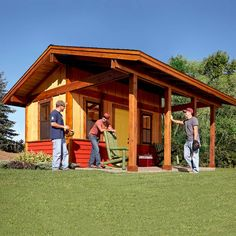 A Shed with Shade - Looks like a great option for a cute tiny home.