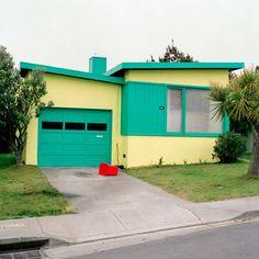 Retro colors! painted houses, color hous, dream houses
