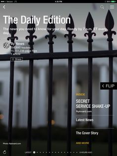 Secret Service head resigns, state of the American family and Prince's fashion rules. Check out today's edition: flip.it/dailyedition