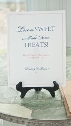 8 1/2 x 11 Love is Sweet so Take Some Treats-Wedding Table Sign-Candy Bar Sign-DIY Printable