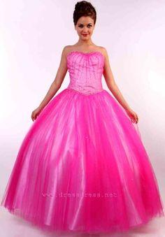 Vestido de quinceañera en fucsia - Quinceanera dress in pink