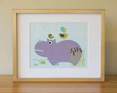 Purple Hippo art