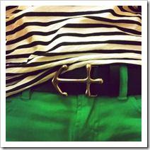 prepster, belt buckles, anchor belt, stripe