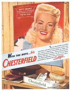 Betty Grable for Chesterfield Cigarettes