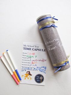 classroom, idea, craft, school, parties, party invitations, new years eve, time capsule kids, diy