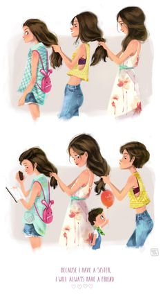 My Sisters by Dung Ho, via Behance @Erin B Rapp @Maggie Moore Rapp @Caitlin Burton Rapp  @Allison Rice Rapp artwork