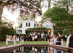 Southern wedding lighting perfection.