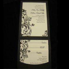Black and Ivory Wedding Invitations