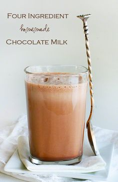 The Best Ever Homemade Chocolate Milk!
