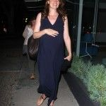 Celebrity Sightings: Pregnant Saffron Burrows Dines For Two At Madeo (Photos)