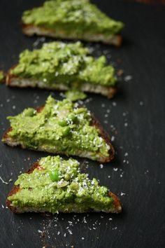Mushy Pea Toasts with Mint
