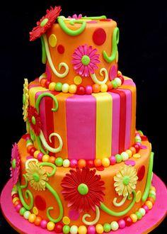 Bright fun cake