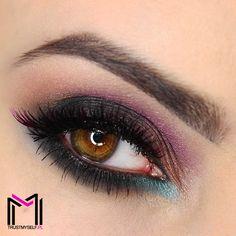 """""""Summer date"""" by Trustmyself using the Makeup Geek Corrupt, Mermaid, Prom Night, and Cosmopolitan eyeshadows."""