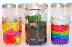 3 Mason jar crafts for kids via SheKnows