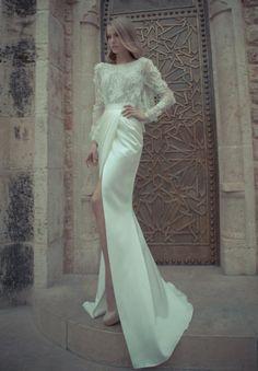 unique wedding gowns | Unique All White Wedding Dresses With Sleeves | Elegant Unique Wedding