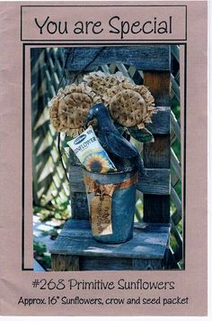 You Are Special Primitive Sunflowers Sewing by RegencyCottage, $9.99