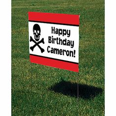 Of course you need a #PirateParty yard sign.  Create yours online!