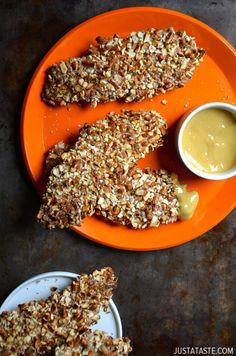 Baked Honey Mustard Pretzel Chicken Tenders