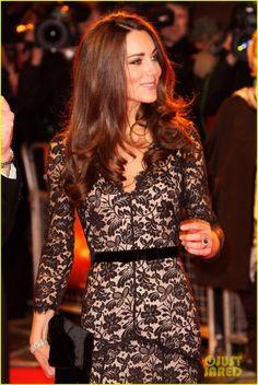 Kate Middleton wears Alice Temperley tonight in London.