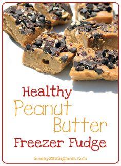 Healthy Peanut Butter Freezer Fudge