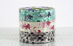 washi tape with birds
