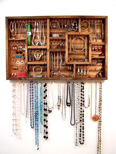 Jewelry Organizer Display Case (DIY Possibility) | Barbwire and Barn Wood