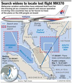 Flight MH370: infographics on the missing Malaysia Airlines plane