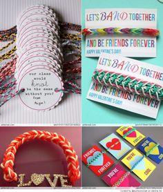 Rainbow Loom Valentine's Day Ideas